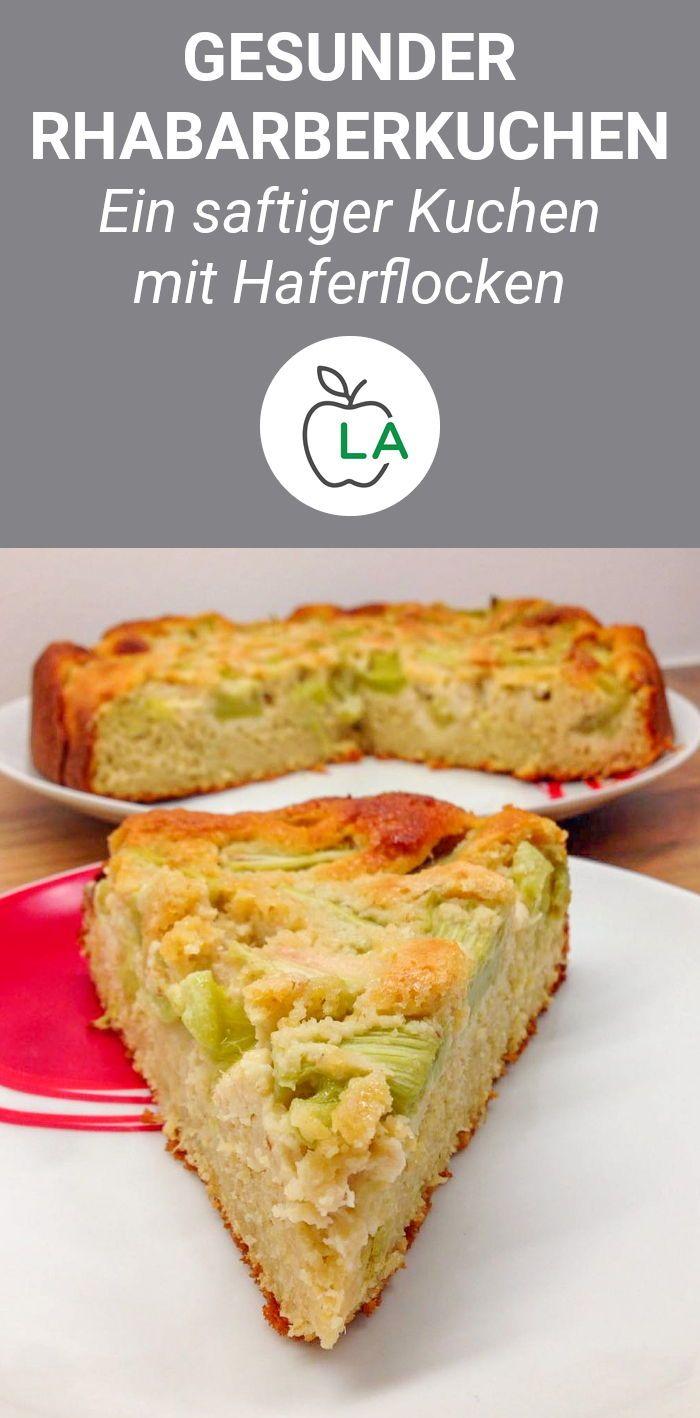 Einen Rhabarberkuchen einfach und gesund machen? Nichts leichter als das! Di …   – Einfache Rezepte