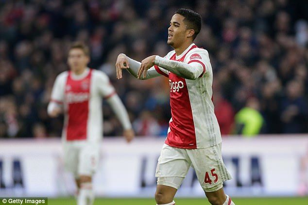 Justin Kluivert looks to be following in his father's footsteps after a sublime hat-trick for Ajax