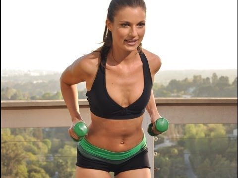54 min Intermediate Total Body Strength Training Workout w/Dumbbells - YouTube