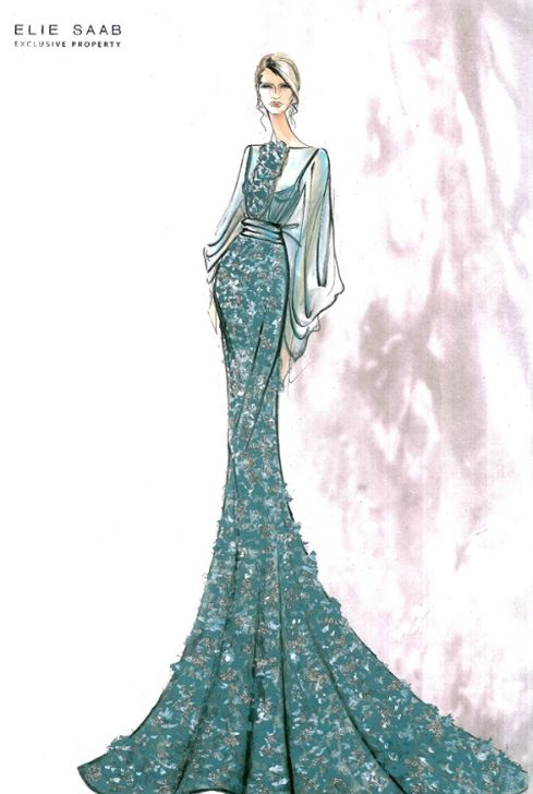 Elie saab sketches Fashion Templates Pinterest
