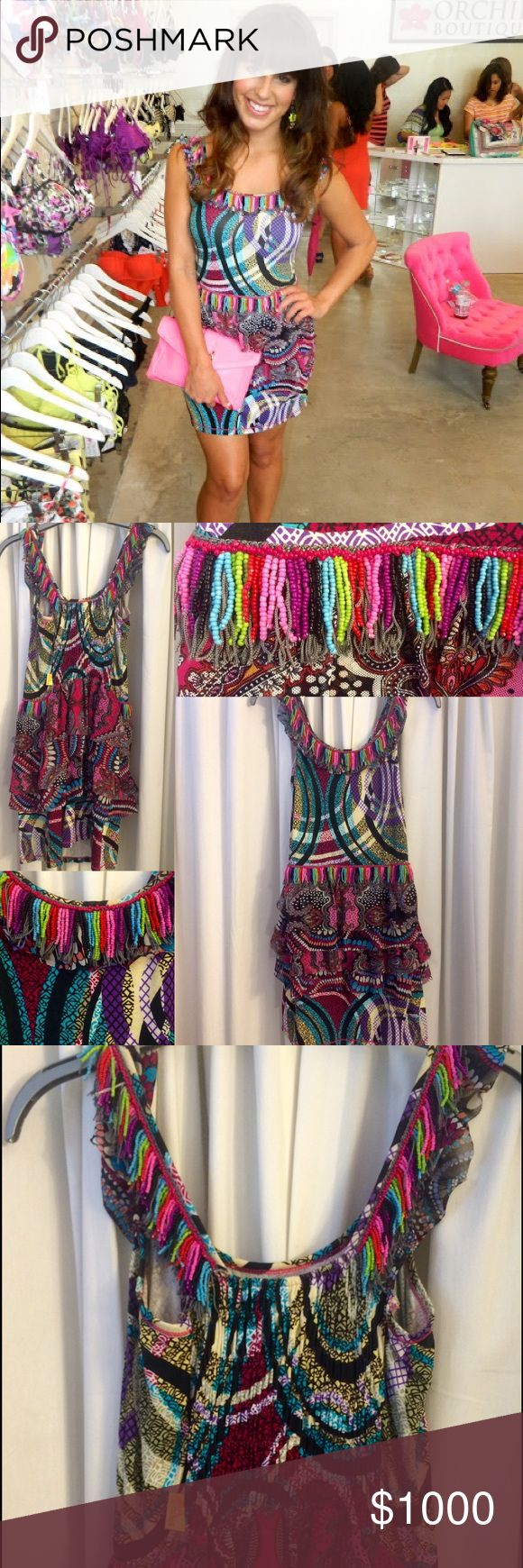Agua Bendita Multicolor Dress Condition: Worn once. Like New  🌟🌟🌟🌟🌟🌟🌟🌟🌟🌟🌟🌟🌟🌟🌟 💸 Bundle 2+ items for 10% off 🙅🏻 Sorry, no trades or sales off Poshmark Agua Bendita Dresses