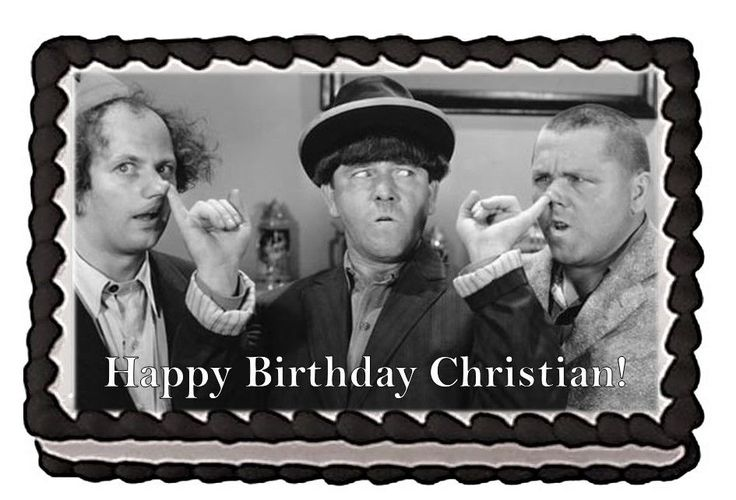 The Three Stooges Personalized Happy Birthday Edible Cake Image Topper
