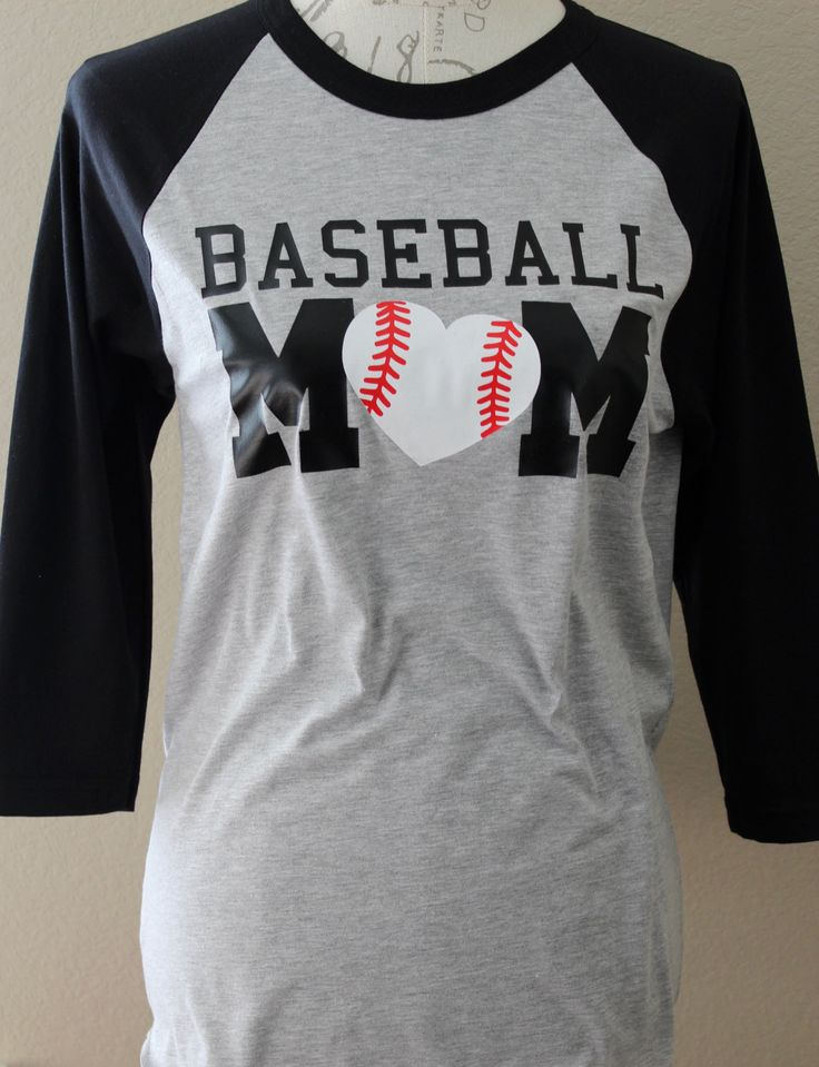 Baseball Mom Shirt with Baseball Heart, Baseball Mom Shirts, Shirts for baseball moms, MOM Baseball Shirt, Baseball Mom, Mom baseball by PurpleAspen on Etsy