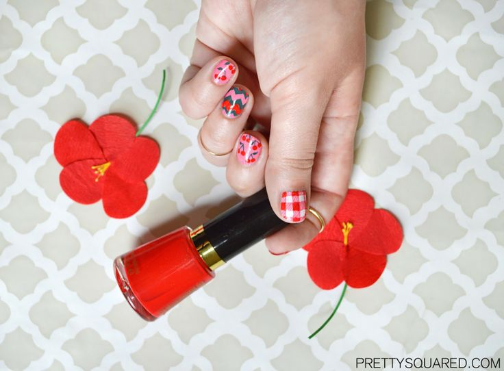 722 best pretty nails images on pinterest beauty beauty nails pretty squared sweet cherries nail art spring nail trends with walgreens and revlon prinsesfo Images