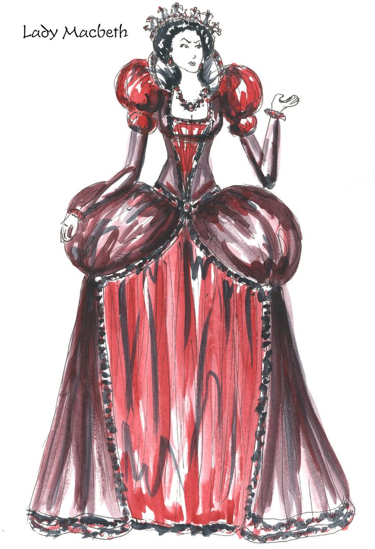 Character Analysis For Costume Design : Lady macbeth costume sketch shakespearean idol