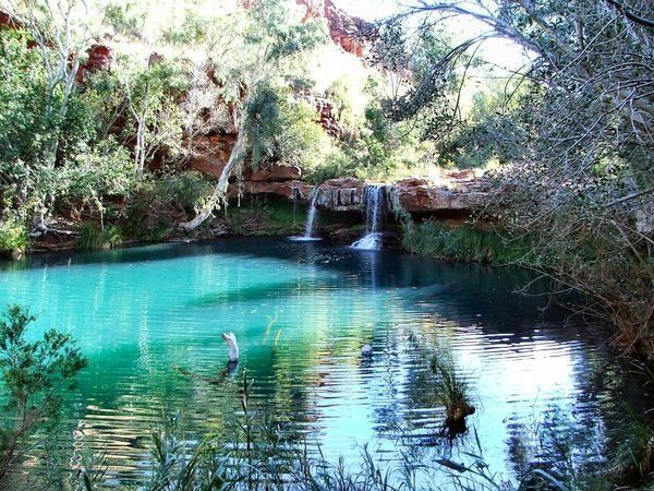 Karijini National Park in Australia.  This place is so beautiful all of the photos look photoshopped.