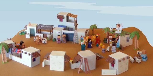 Mini biblical village. maybe with Legos!