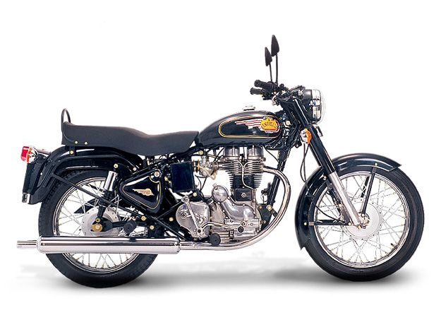 """Classic Royal Enfield thumper. One cylinder, a seat, two wheels--exactly what a motorcycle should be. """"Built like a gun,"""" indeed."""