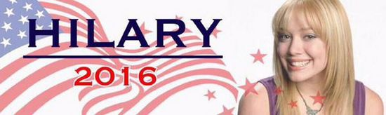 Why I'm Voting For Hilary (Duff)