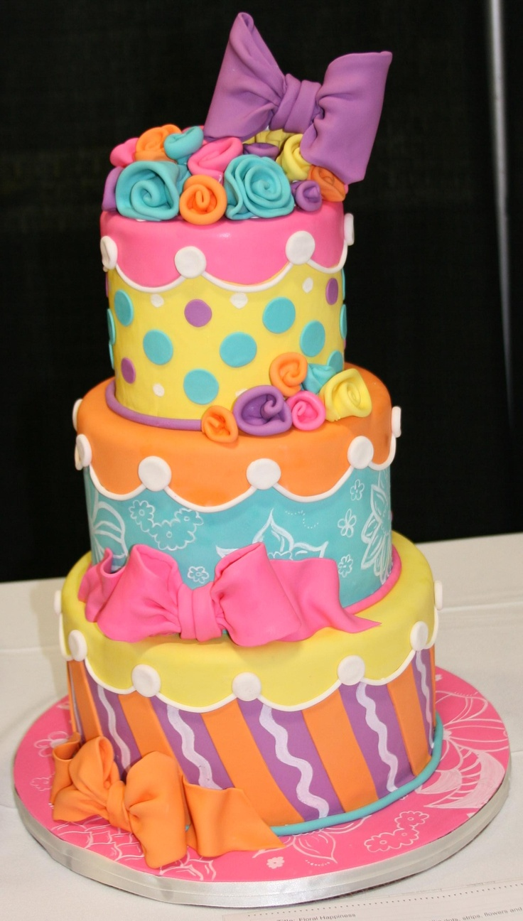 """Bow cake from """"That Takes the Cake"""" contest in Austin, TX Feb 25-26, 2012"""