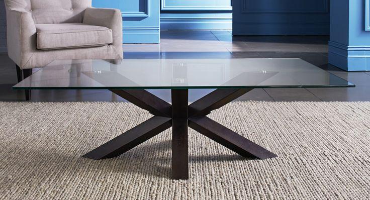 Quattro glass top coffee table