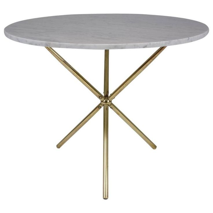 midcentury modern brass and marble dining table - Modern Dining Tables