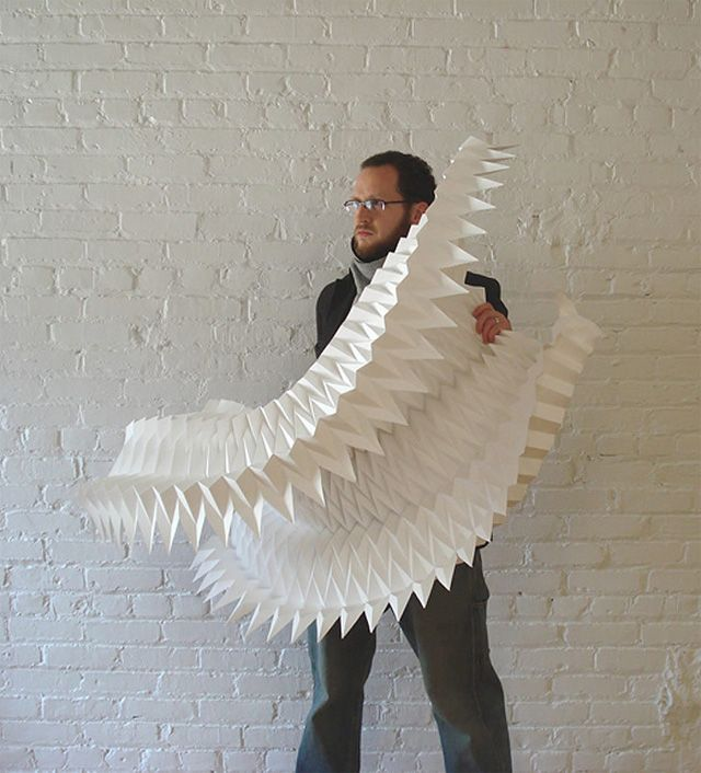 New Geometric Paper Art from Matthew ShlianAugust 22, 2012_Paper artist Matthew Shlian (previously) who refers to himself perhaps more appropriately as a paper engineer, has a new series of intricate paper sculptures which are cut and constructed by hand as part of a process that involves more math than you could shake a protractor at.