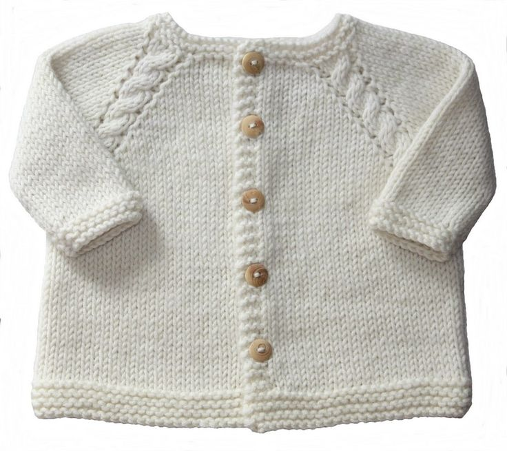 * Ce gilet pour les bébés se tricote en un seul morceau en commençant par le col. * Une douce layette intemporelle. * du 1 au 18 mois                                                                                                                                                                                 Plus