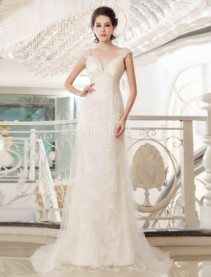 Vestido de novia de color marfil con hombro caído de estilo de estilo atractivo