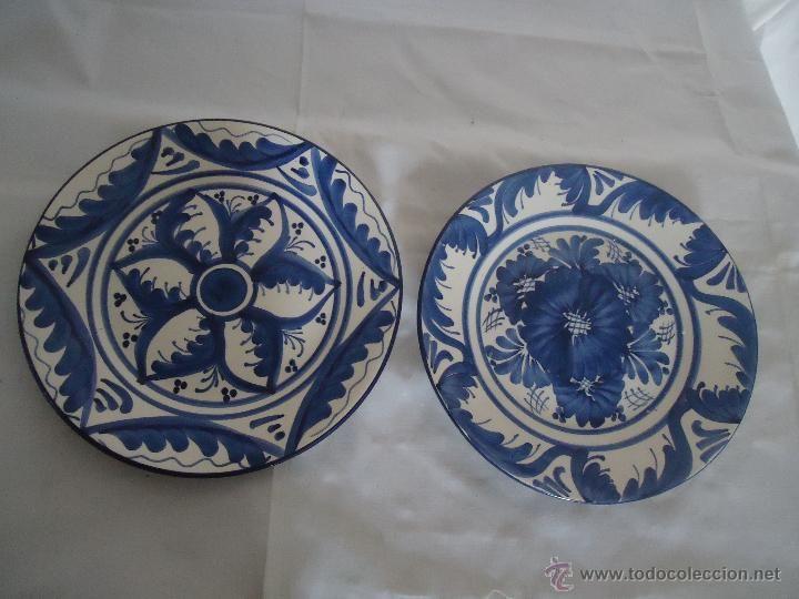 GRANDES PLATOS DE CERAMICA PINTADOS A MANO. Ceramica levantina