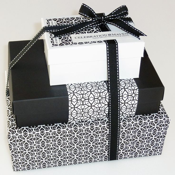 23 best corporate gift wrap design ideas images on pinterest custom gift wrapped stack of gift boxes bottom box fully gift wrapped 2nd box negle Images