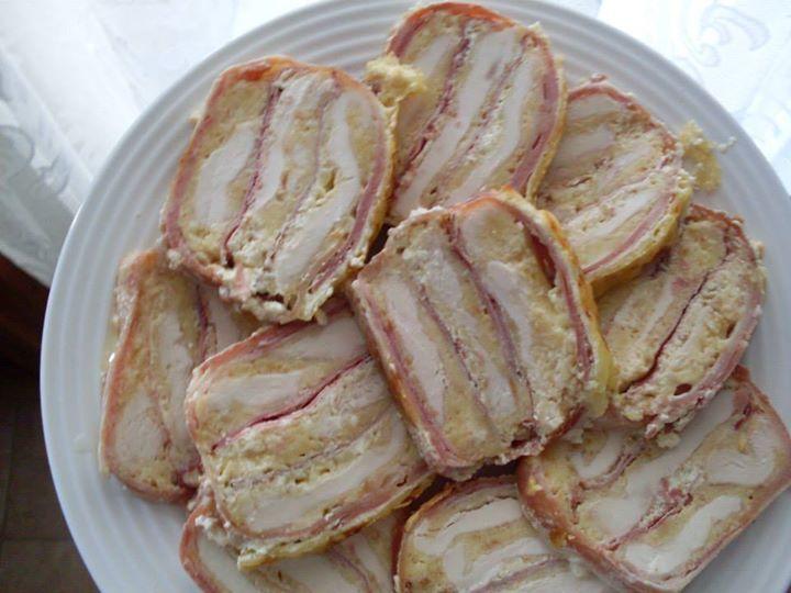 Rakott csirkemell szeletelve -- receptek365.info