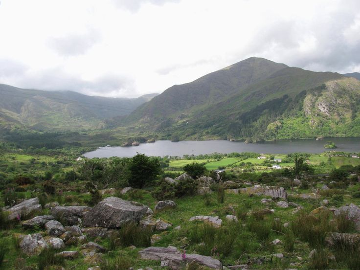 Near Healy Pass. The Healy Pass in Ireland is a very nice and scenic serpentine road that winds through the mountains at the west coast of Ireland.