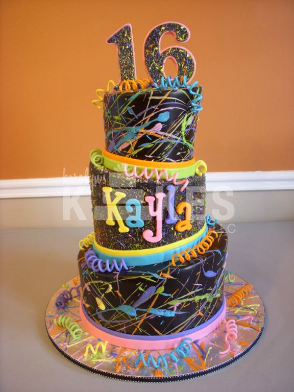 65 best Paint cakes images on Pinterest Art cakes Art party cakes