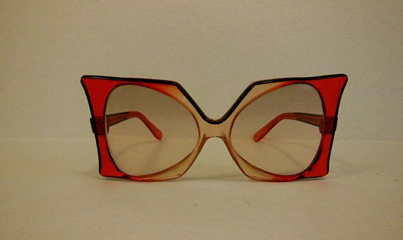 1960s sunglasses / Vintage 60's Oversized by Planetclairevintage