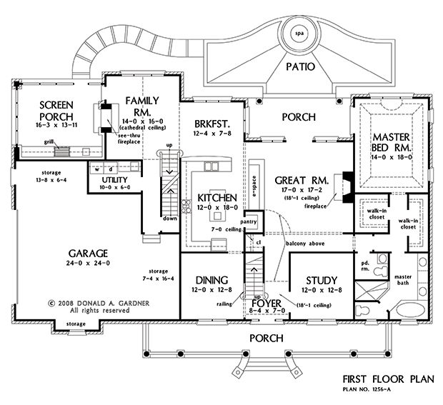 Basement Stair Option Of The Eastlake   House Plan Number 1256