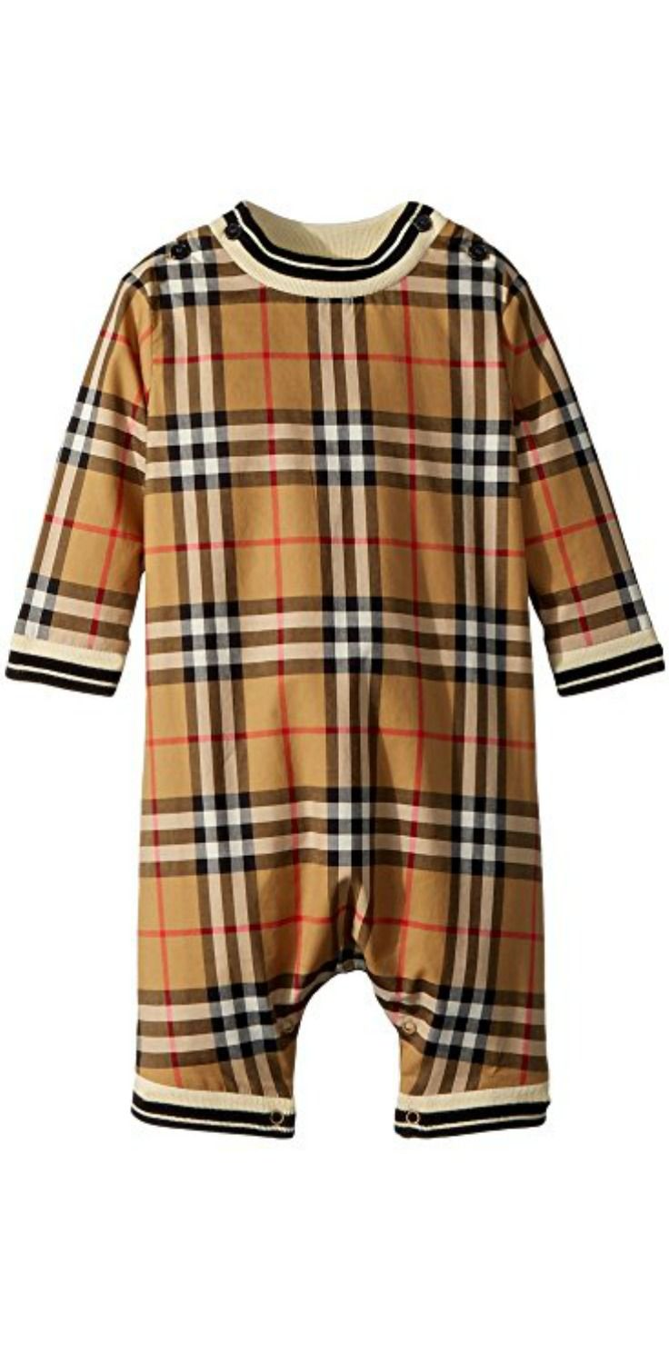 4cd7e48af890 Create beautiful memories by giving your child the loved luxury of the   Burberry  Kids Michael Long Sleeve  Overalls.  child  children   childrenswear ...