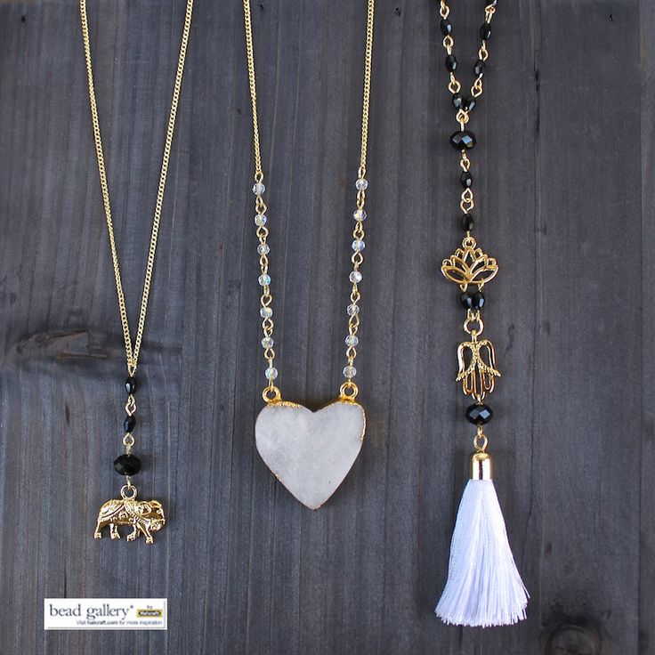 DIY Layering Necklaces made with Bead Gallery beads available at @michaelsstores Click for free instructions and printable materials lists #madewithmichaels