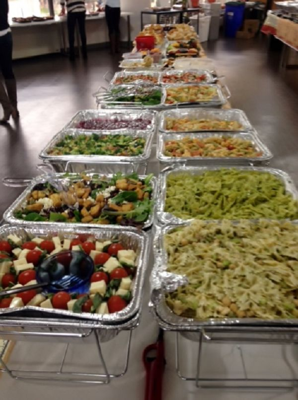 WeddingWire Thanksgiving Potluck, 2013: These are just the side dishes!