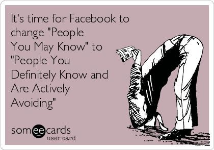 """Did you know you can hide the """"People You May Know"""" box on Facebook with the safe, free and top rated FB Purity browser extension? : http://fbpurity.com   """"No Facebook, that is just somebody that i used to know"""" #peopleyoumayknow"""