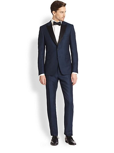 dark blue tuxedo #burberry Burberry Blue Sutherland Shawl-collar Tuxedo Expertly tailored from a lightweight wool and mohair blend, this shawl-collar tuxedo.