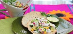 Ceviche Mexican Way. Very classic and wonderful. You can eat it with tortilla chips or tostadas and just make yourself a little taco. Serve as app or a healthy meal.