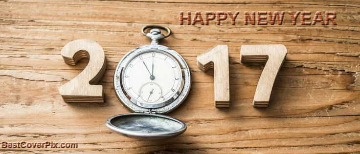 clock new year 2017 Facebook cover picture