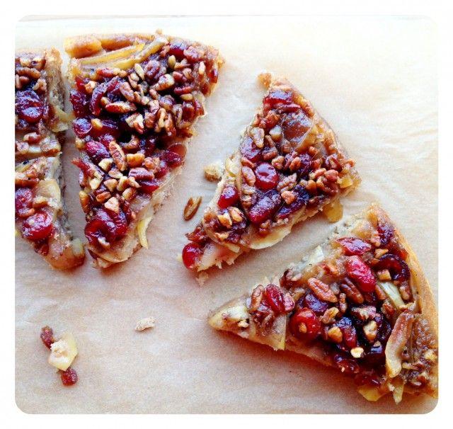 Caramel Apple Upside-Down Cornmeal Cake - Best enjoyed right-side-up
