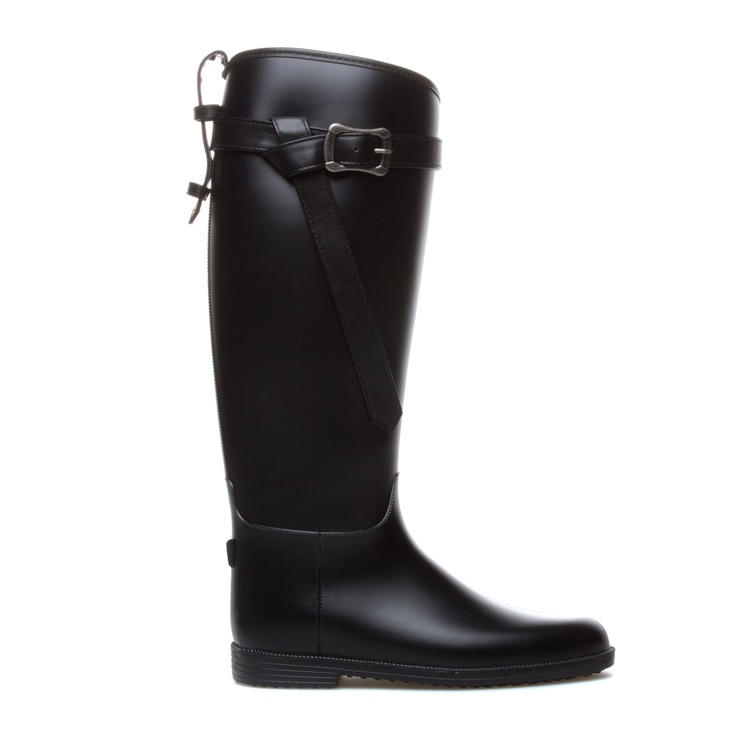 This mid-calf rubber boot by Dirty Laundry will stylishly weatherproof your  favorite outfits. Try Riff Raff with tucked-in skinny jeans and a Fairisle  ...