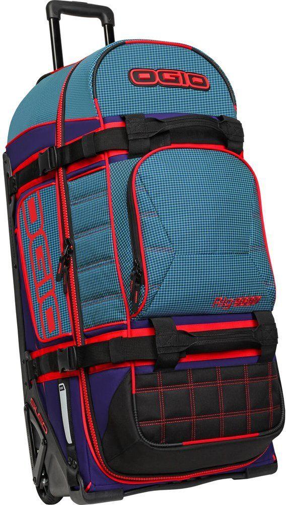 Nada puede detener cuando estás cargando el Rig 9800 del balanceo del bolso del equipaje. Su durabilidad se puede encontrar en casi todas las características. La espuma integrada en toda mantendrá su equipo sano y salvo a medida que viaja. ruedas de gran tamaño le seguirán a través de...
