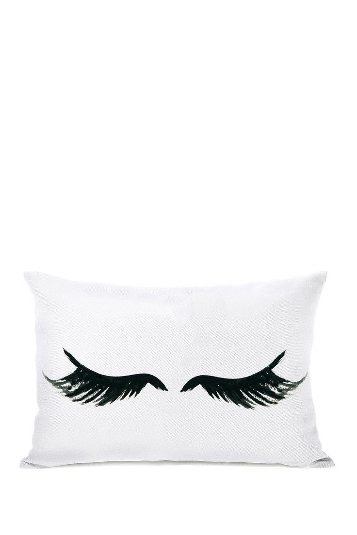 Gorgeous Lashes Pillow - White/Black on @HauteLook