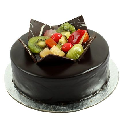 Buy & send Chocolate Fruit Gateau Half kg online with Ferns N Petals. Order Chocolate Fruit Gateau Half kg with free shipping in India.