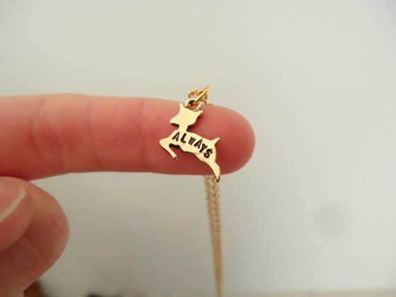 "Severus' doe patronus necklace ""Always"""