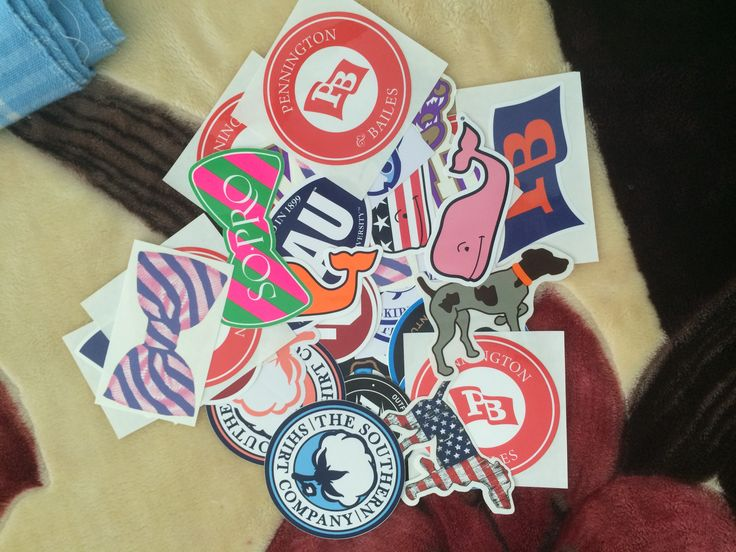Preppy Car Stickers Stickers from the prep...