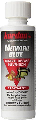 Methylene blue is effective against superficial fungal infections of fishes. The drug may be used as an alternative to malachite green for the control of fungus when it is known that the fish to be tr...
