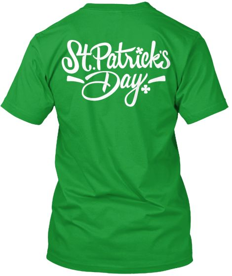 Celebrating Saint Patrick's Day.