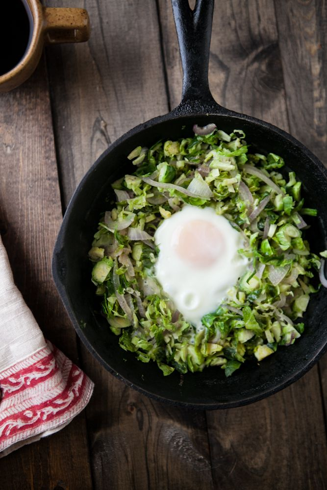 Naturally Ella | Brussels Sprouts and Egg Skillet | Naturally Ella