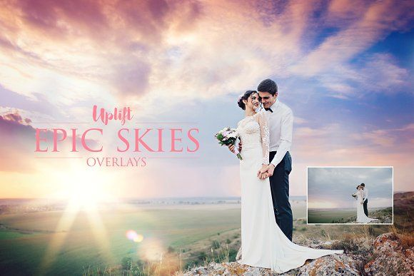 SALE! EPIC Skies Cloud Overlays by Uplift Actions on @creativemarket