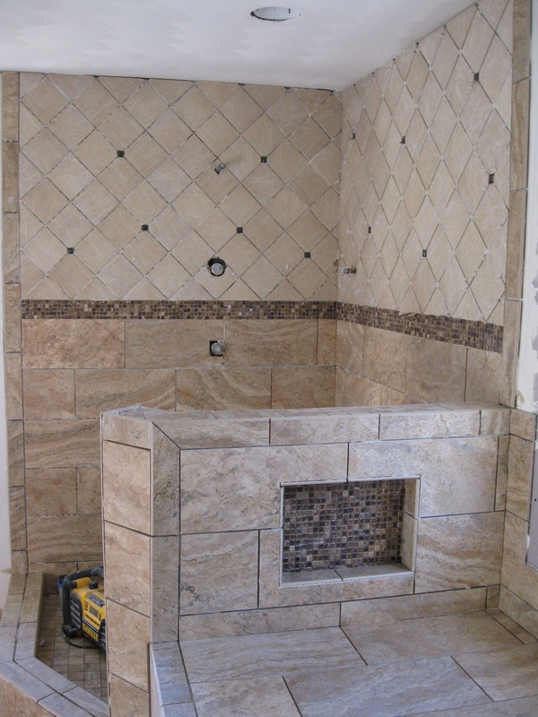 51 best images about open shower ideas on pinterest for Bathroom designs open showers