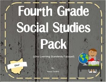 Need help with Ohio 4th grade social studies? This is a social studies pack that…