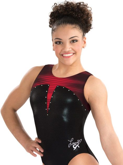 Laurie Hernandez Lady in Red Leotard from GK Elite