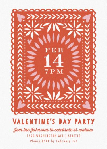 Valentine Cutout. Minted's Online Invitations are FREE for a limited time and the sweet touch to your next bash.
