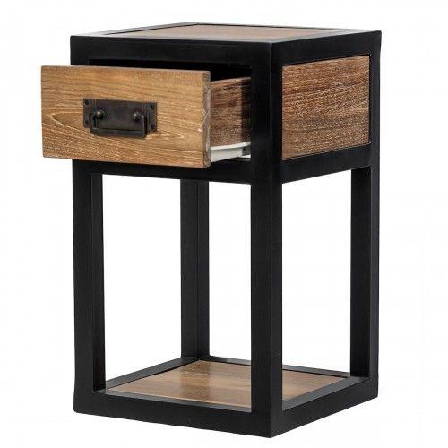 Galang | meja laci kayu jati besi desain industrial kafe rumah hotel design interior