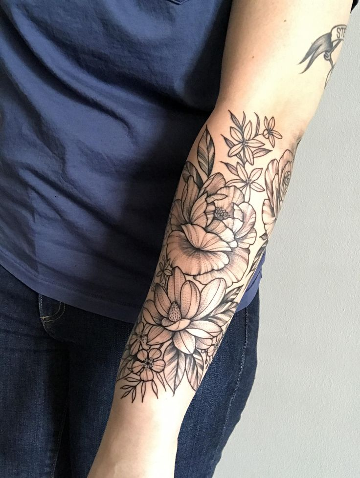 Floral half sleeve completion by Leah B at Waukesha Tattoo co in Waukesha WI Japanese tattoo sleeve btctrader1.weebly…